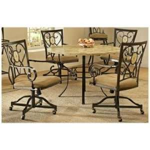 Hillsdale Brookside Round Oval Back Dining Set: Home & Kitchen