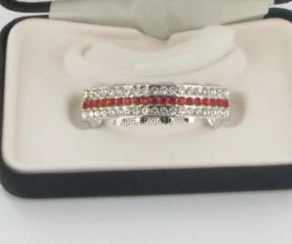 ROYAL GRILLZ TEETH SILVER RED/WHITE STONES BOTTOM BOXED