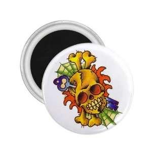 Tattoo Skull Art Fridge Souvenir Magnet 2.25 Free
