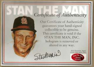 STAN MUSIAL HAND SIGNED AUTOGRAPHED ST. LOUIS CARDINALS XL JERSEY WITH