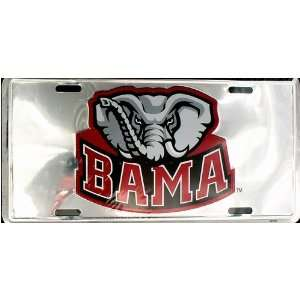 Alabama BAMA Chrome License Plate Automotive