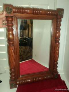 ANTIQUE French Provincial FEDERAL Fruitwood ? Wall Mirror Picture