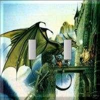 DRAGON CASTLE DRAWBRIDGE ATTACKS DOUBLE SWITCH PLATE #7