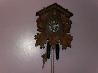 Antique/Vintage LARGE German Made Regula Black Forest Hunters Cuckoo