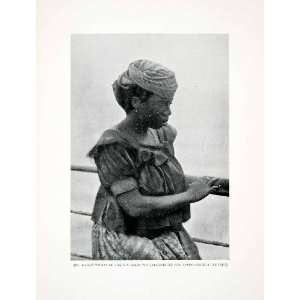 1906 Print Bassa Liberia Africa Indigenous Native Woman