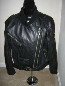 HARLEY DAVIDSON LEATHER JACKET SZ L TOTALLY AWESOME