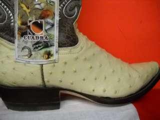 NEW mens CUADRA OSTRICH WESTERN COWBOY BOOT size 8 1/2