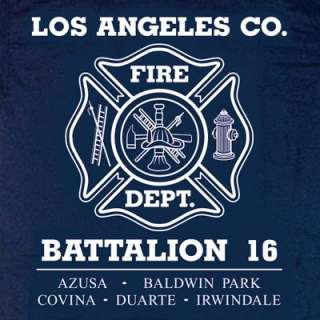 Los Angeles County Fire Dept. Battalion 16 T shirt L