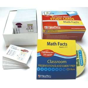Newpath Math Facts Study Cards   750 Cards   Grades 2 to 5