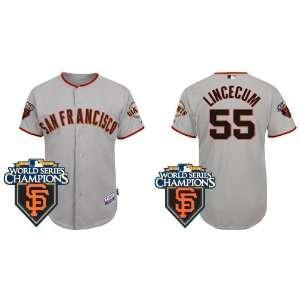 Wholesale New San Francisco Giants #55 Tim Lincecum Grey