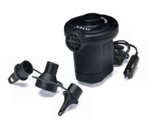 INTEX 12V Quick Fill DC Electric Air Pump w/ Adapter Nozzles