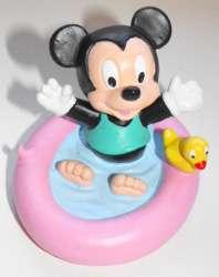 Baby Mickey Mouse in Pool Figurine Plastic Mini Figure