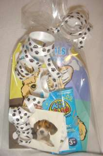 BIRTHDAY FILLED DOG PUPPY PAW PRINT PARTY FAVOR BAG
