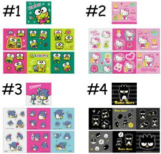 SANRIO HELLO KITTY BADTZ MARU XO KEROPPI TUXEDOSAM MINI STICKER BOOK