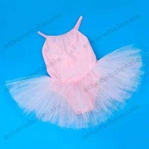 Girls Leotard Ballet Skirt Dance Dress Tutu 7 8 Y Pink