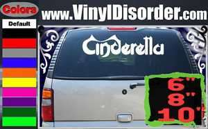 Cinderella Band Vinyl Car or Wall Decal Sticker