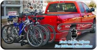 BIKE WHEEL CRADLE CARRIER RACK BICYCLE RACKS 2 HITCH