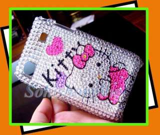 Silver Cute Hello Kitty Bling Hard Protect Case Cover For SAMSUNG
