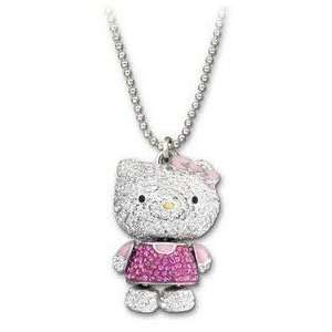 Lovely Crystal 3D Hello Kitty Style Long Necklace/Pendant