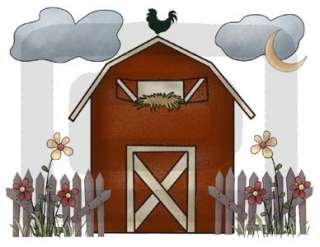FARM BARNYARD BARN NURSERY WALL MURAL STICKERS DECALS 2