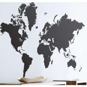 ferm LIVING World Map Wall Sticker in Black