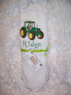 This was a special order for a Spencer hooded towel for John Deere