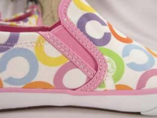 NIB Coach Beale Signature Pink Slip On Sneakers 6.5