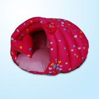 100% Cotton Handmade Cozy Cave Dog Cat Pet Bed House