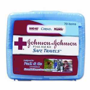 BAND AID JOJ8274 Portable Travel First Aid Kit, 70 Pieces