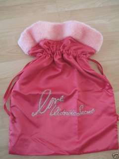 VICTORIAS SECRET PINK SATIN BLING SANTA BAG NEW RARE