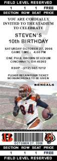 24 Cincinnati Bengals Birthday Ticket Invitations