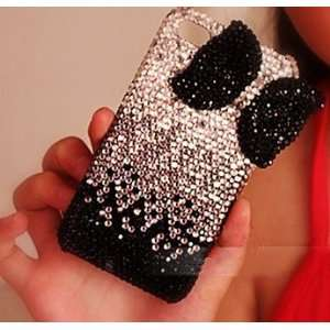 Diamond Silver with Black Bow Tie Pattern 3D Hard Case/Cover/Protector
