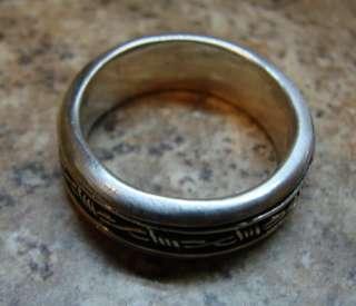 designer barbed wire wedding band 925 sterling silver