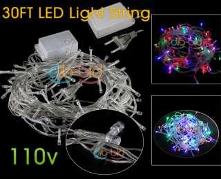 10M 30FT 30 FT LED Light String 7 Color Christmas 110V