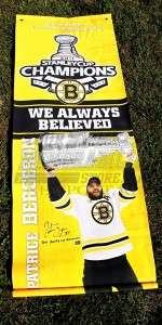 Patrice Bergeron Boston Bruins signed autographed Stanley Cup street