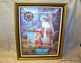 Guardian Angel Bridge Children Hologram Clock Picture