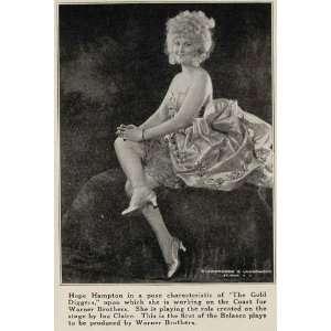1923 Print Hope Hampton Gold Diggers Silent Film Star