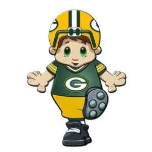 GREEN BAY PACKERS MASCOT WINDOW CLINGS (2) Sports