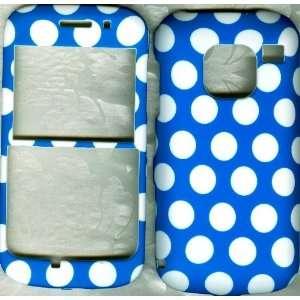 Blue Polka Dot Straight Talk Nokia E5 3g Smart Phone phone