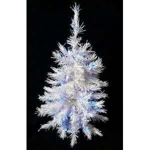 Pre Lit White Artificial Christmas Tree   Blue Lights