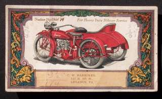 1910s? Indian Big Chief Motorcycle Sidecar Lebanon PA