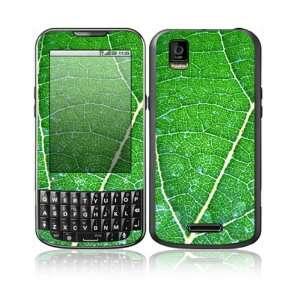 Motorola Droid XPRT Decal Skin Sticker   Green Leaf