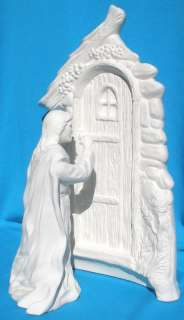 JESUS KNOCKING AT THE DOOR CERAMIC BISQUE RELIGIOUS