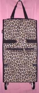 LUGGAGE Carry On PULL Behind Along LEOPARD TRAVEL BAG