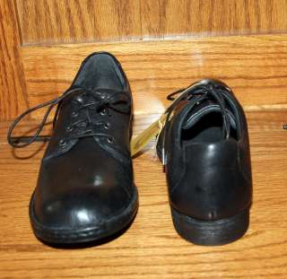 Born Crown MIRANDA Black Leather Lace Up OXFORD Shoes Size 10 or 11