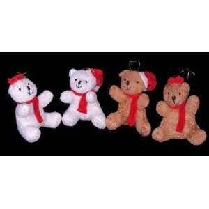Club Pack of 12 Brown & White Plush Teddy Bear Couple