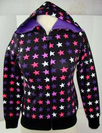 Abbey Dawn Black with Stars Girls Hoodie 904