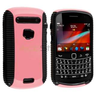 Hard Hybrid Case+Charger+Privacy LCD SP For BlackBerry Bold 9900 9930