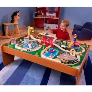 Ride Around Town Train Table and Train Set Package Home & Kitchen