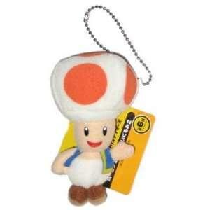Nintendo Super Mario Bros. Toad Plush Keychain Toys